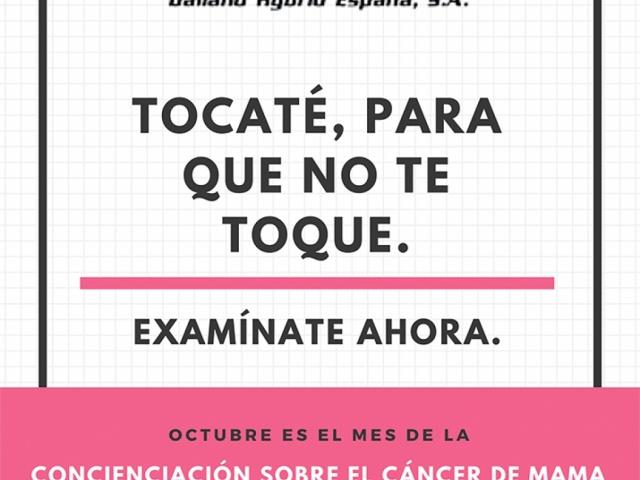Día Internacional Contra el Cáncer de Mama y DALLAND HYBRID ESPAÑA, S.A.